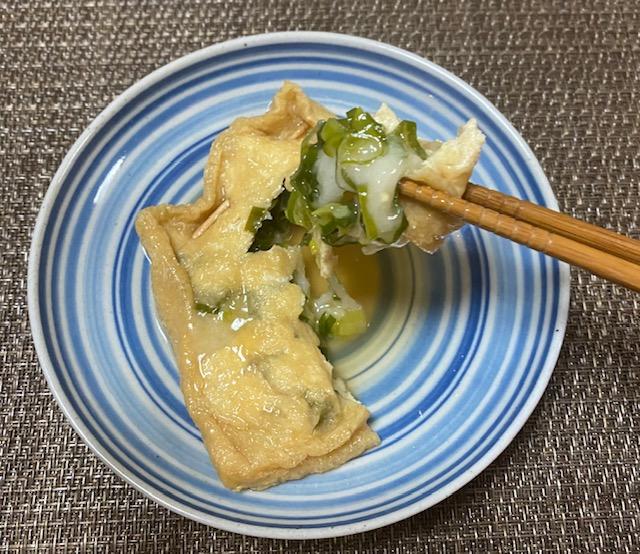 九条ねぎと餅入り巾着煮の作り方4