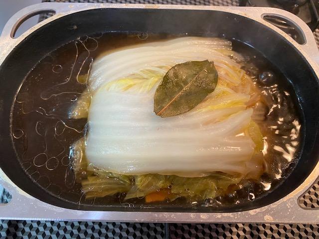 白菜と豚バラ肉の重ね蒸し<クリーム仕立て>の作り方3